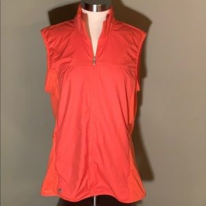 Adidas Sleeveless Coral Zip Vest Large
